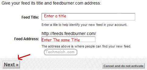feedburner feed