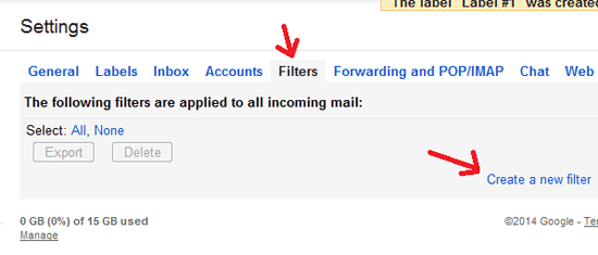 Gmail Filters Automatically Forward All Mails From One Gmail Account to Another Gmail