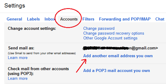 accounts in gmail