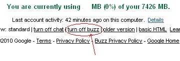 How To Turn Off Google Buzz in Gmail