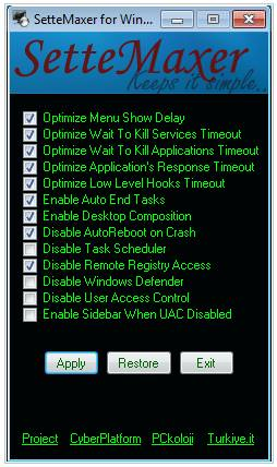 sette mixer windows 7 Windows 7 Popular and Useful Applications