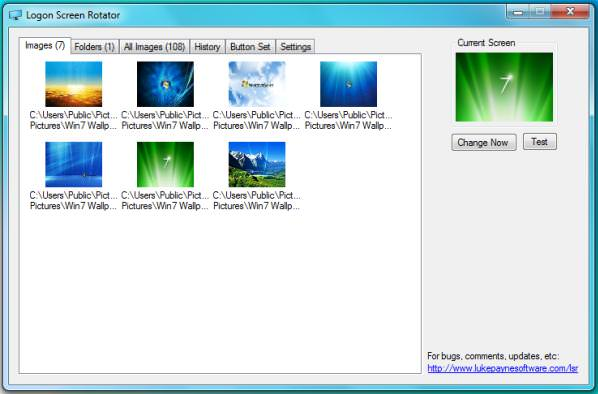 windows 7 logon screen rotator