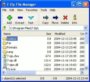 7Zip file compressor