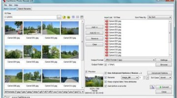 Faststone Photo ReSizer- A Good Image Compressor Application