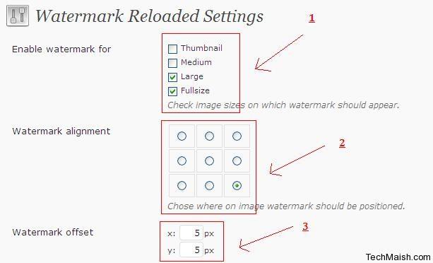watermark reloaded setting