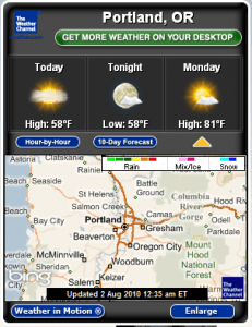 Weather forecast software for windows 7