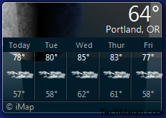 Four Weather Widget For Your Windows 7 -