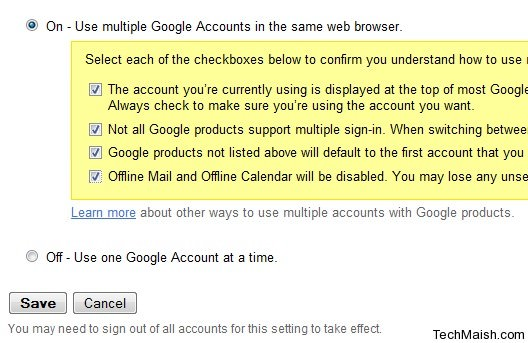 access two gmail