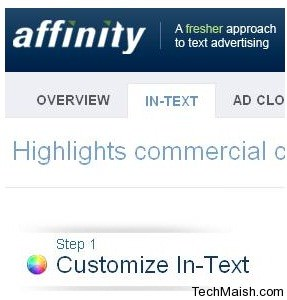 affinity 5 Best In Text Advertising Networks
