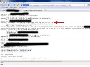 find gmail IP
