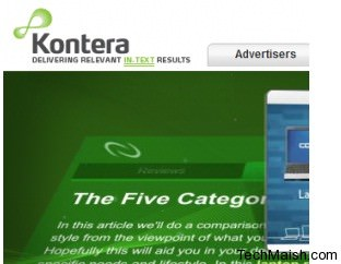 kontera 5 Best In Text Advertising Networks