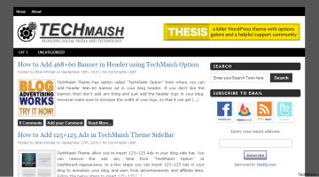 TechMaish Theme- Free WordPress Theme by TechMaish