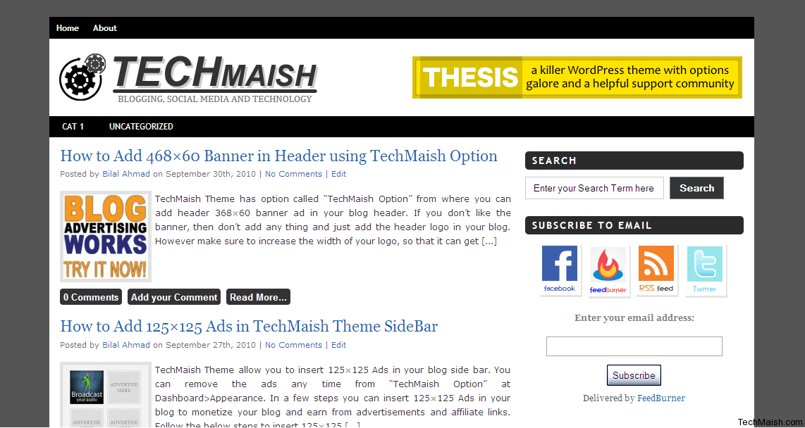 screenshot TechMaish Theme  Free WordPress Theme by TechMaish