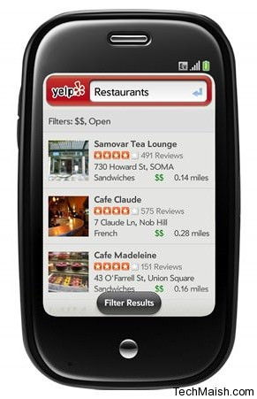 yelp applicaiton for iphone