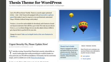 thesis 1.8 wordpress theme rapidshare