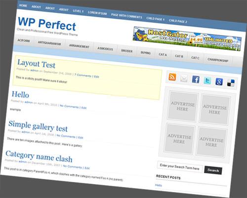 Thesis 18 wordpress theme demo