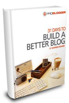 31 days to build a better blog half price