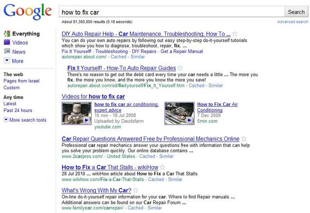 google video results image