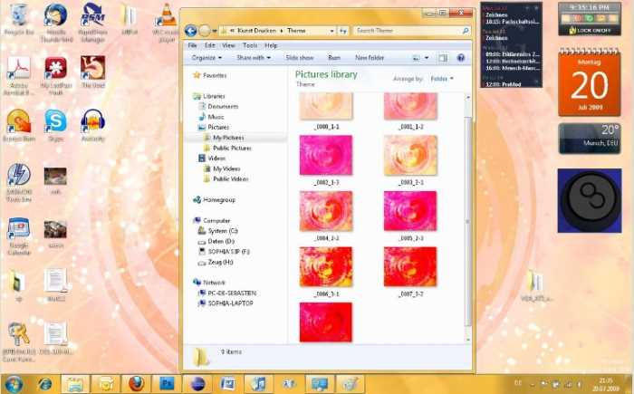 heart windows 7 theme
