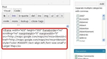 Insert  iFrame Code in Blog Posts- Insert Amazon Products