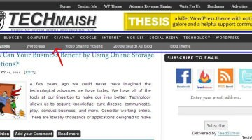 Display Adsense Ads Below Nav Bar in TechMaish WordPress Theme