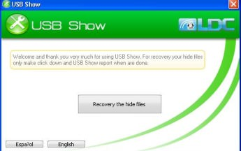 USB Show- Unhide and Recover Hidden USB Files in Minutes