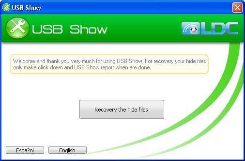 usb show unhide usb files