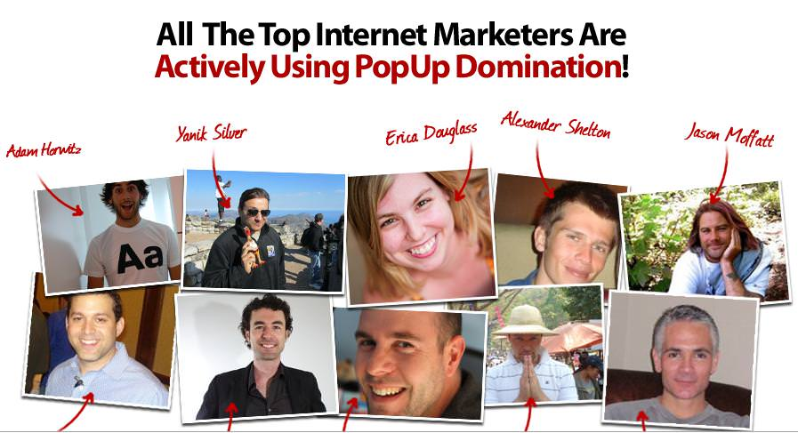 popup domination users