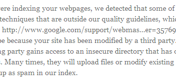 Google Adding New Spam Warnings In Webmaster Tools