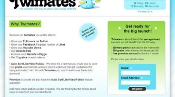 Twimates- Get Free Facebook Likes, Twitter Followers and Web Site Hits