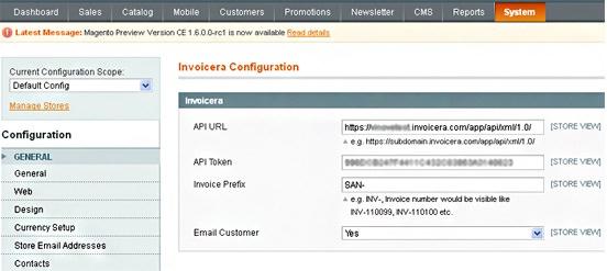 Invoicera Magento Extension