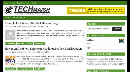green techmaish theme