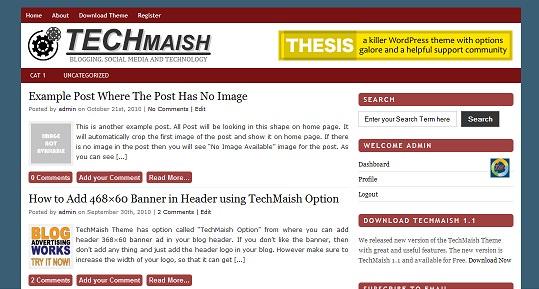 red techmaish theme