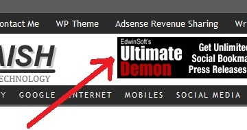 How to Add Adsense 468×60 Banner Ad in TechMaish Theme Header?