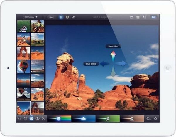 apple ipad 3 iphoto app