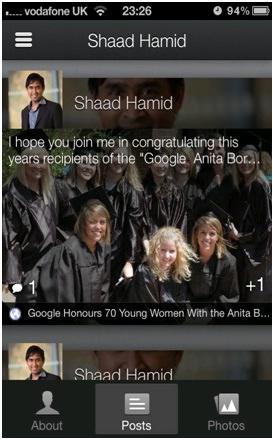iphone google plus streaming