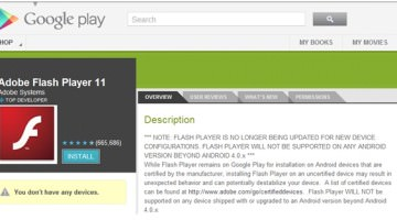 Adobe The Makers of Flashplayer, are Removing Support for Android OS