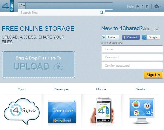10 Online File Hosting and Sharing Websites -