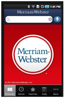 Merriam Webster app