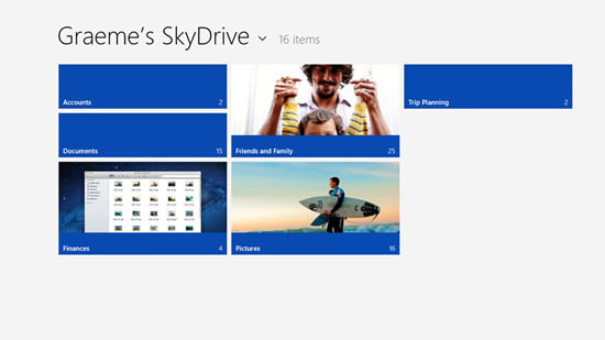 SkyDrive for windows 8