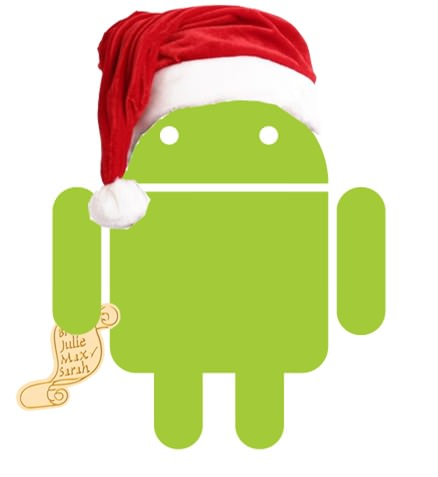 android in christmas