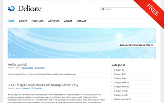 Delicate WP Theme
