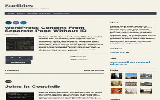 Euclid WP theme