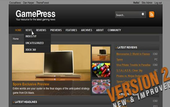Gamepress WP Theme