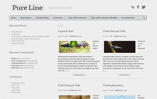 Pureline WP Theme
