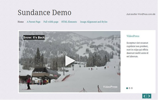 Sundance WP theme