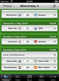 The Football App for iPhone