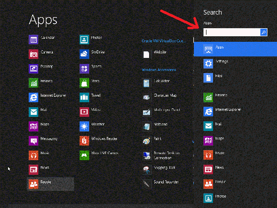 Windows 8 Search