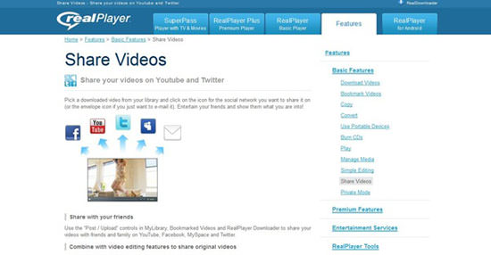 realplayer 5 Ways to Share Videos on Twitter