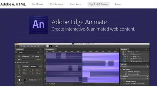 Adobe Edge Animate 5 Most Useful HTML5 Tools